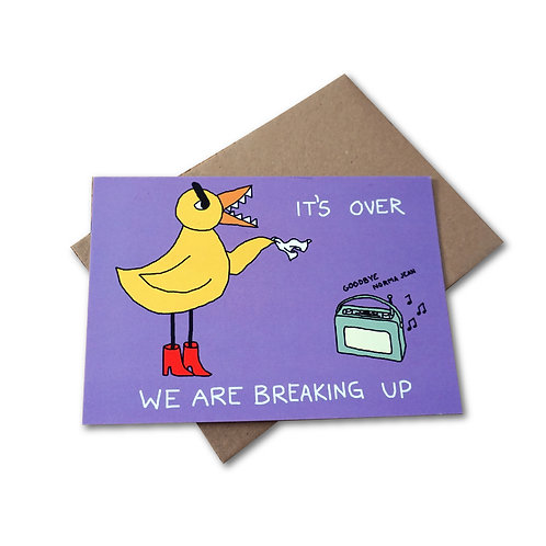 Angry Duck Breakup card