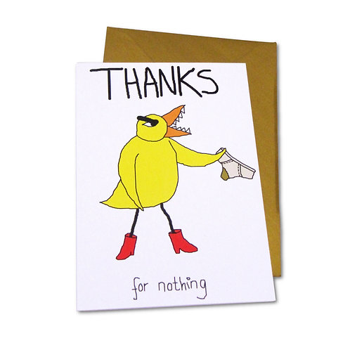 Angry Duck Thanks For Nothing card