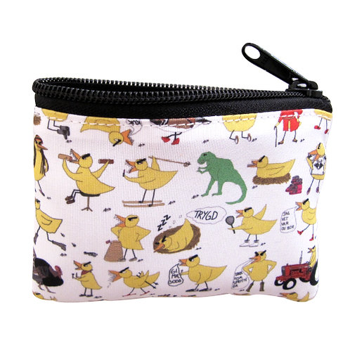 Angry Duck all over print coinpurse