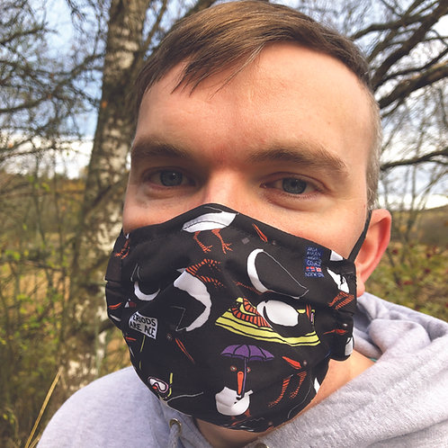 Lardy Oystercatcher black all over facemask