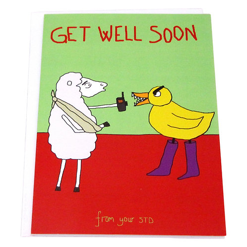 Angry Duck greeting cards