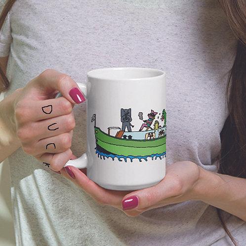 Angry Duck large character mug