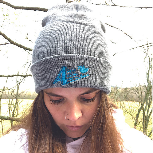 Angry Duck Shop Grey embroidered beanie