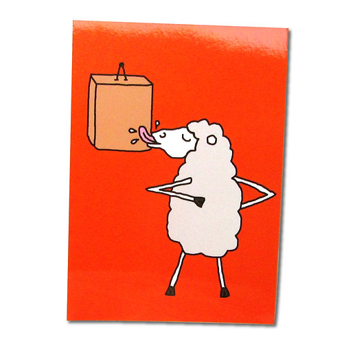 Angry Duck Character Postcards Wanky Sheep
