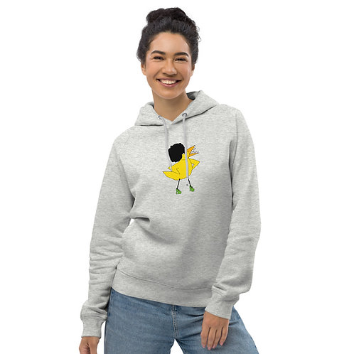 Angry Duck Afro Duck Unisex heather grey pullover hoodie
