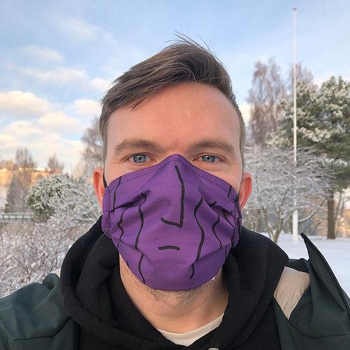 Danish prune reusable purple face mask funny