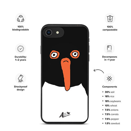 Lardy Oystercatcher biodegradable iphone 7 iphone 8 iphone SE case