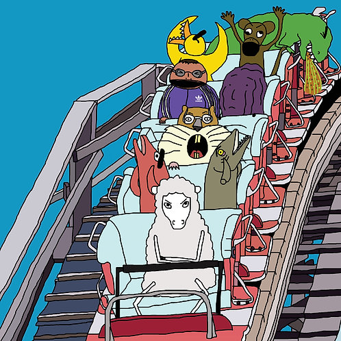Angry Duck art print rollercoaster