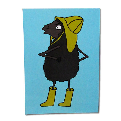 Angry Duck Character Postcards Black Sheep