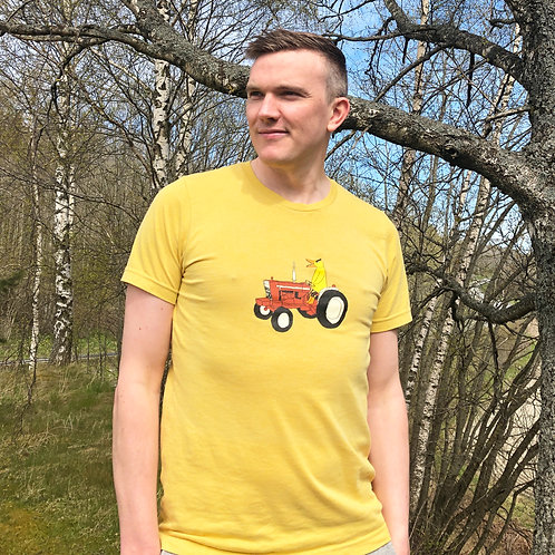 Angry Duck Yellow Tractor Tee