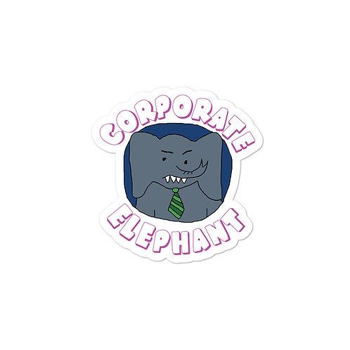 Corporate Elephant Sticker