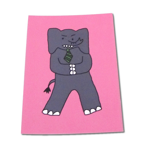 Angry Duck Character Postcards Corporate Elephant
