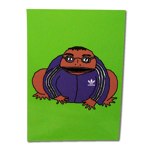 Angry Duck Character Postcards Tanned Toad