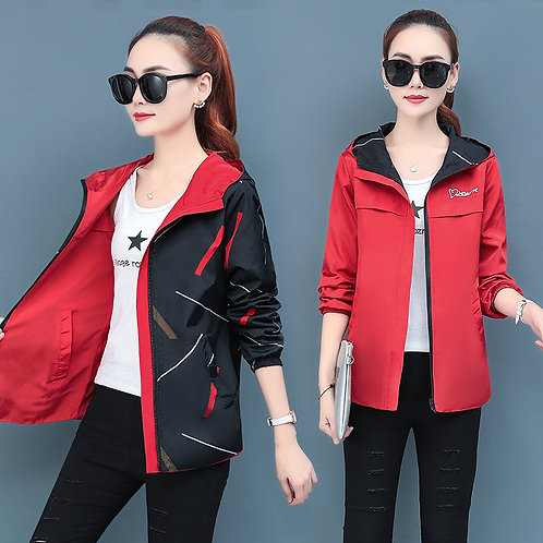 Women Jackets Spring Autumn Hooded Coats and Jackets Plus Size Jacket Spring
