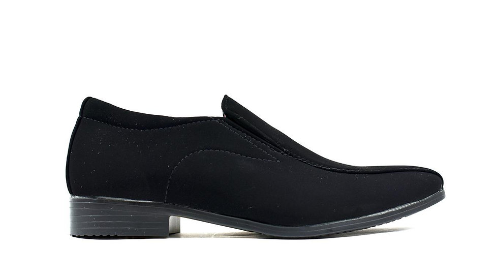 Textured Slip on Shoe Black Lami