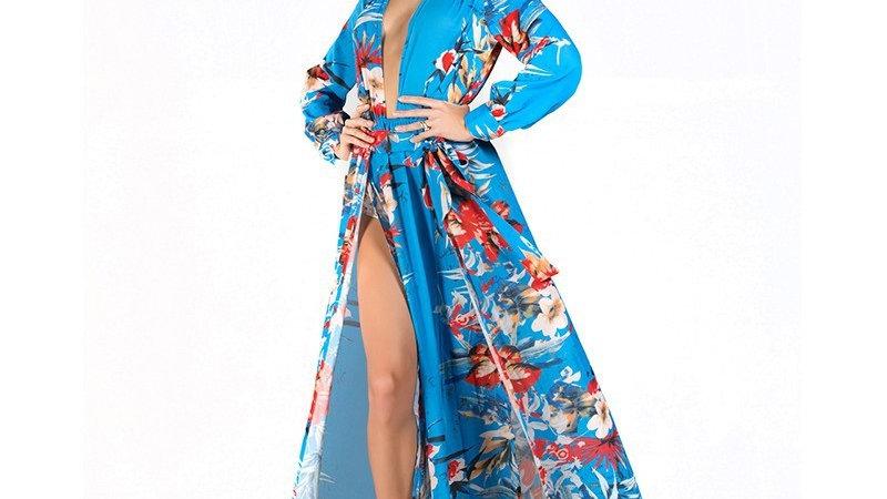 Blue Kimono Dress