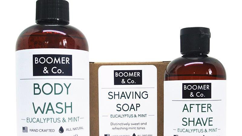 Eucalyptus & Mint Men's Grooming Kit