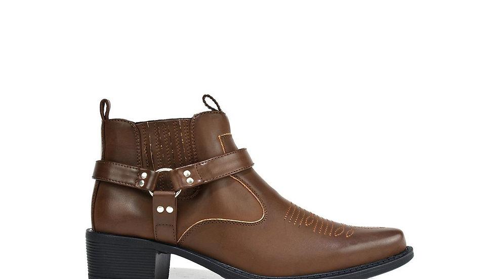 Men's Mid Top Cowboy Boots Brown