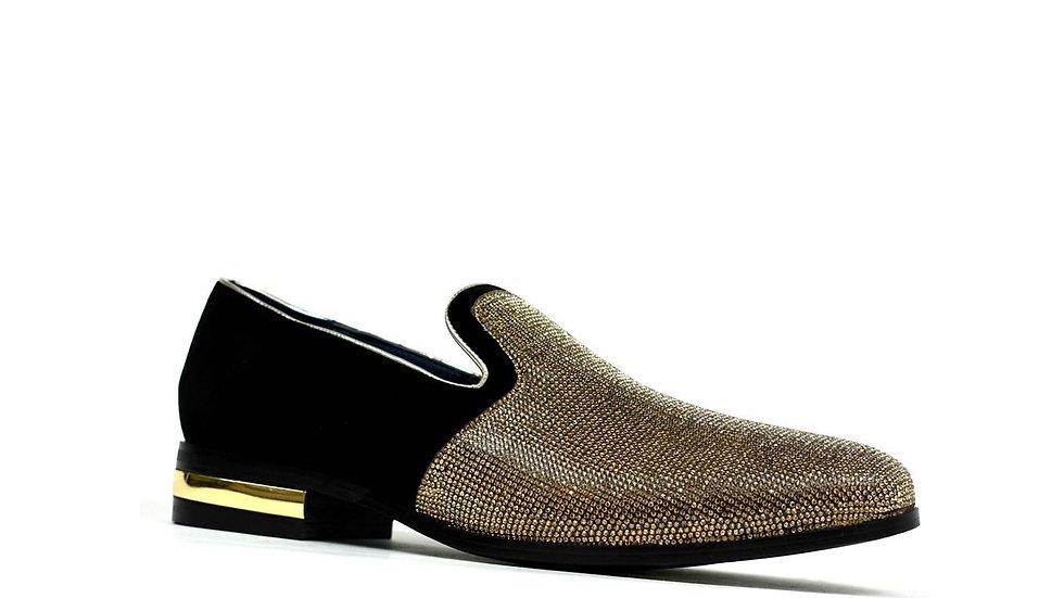 Men's Sparkling Glitter Party Shoes Gold