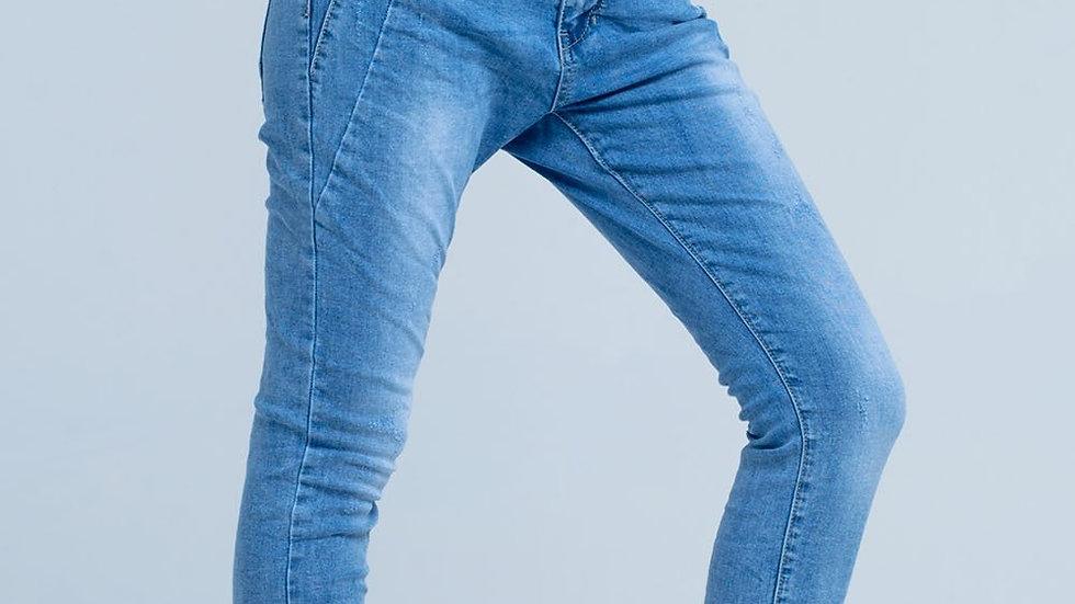 3d Blue Boyfriend Jeans