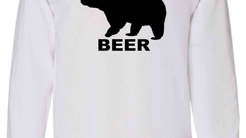 Men's/Unisex Funny Bear? Deer? BEER! Long Sleeve Shirt