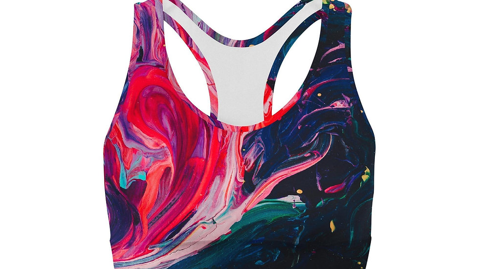Paint Stroke Sports Bra