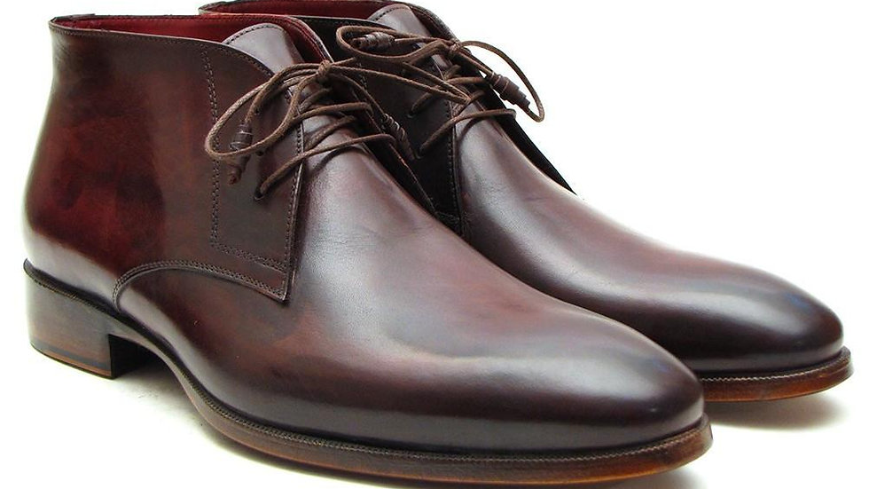 Paul Parkman Men's Chukka Boots Brown & Bordeaux (ID#CK43E8)