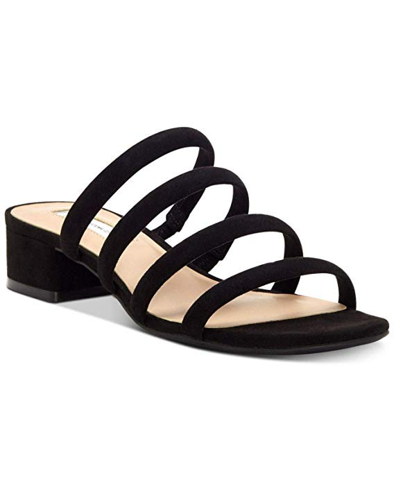 INC International Concepts Women's Lamia Open Toe Casual Strappy, Black, Size 7.5