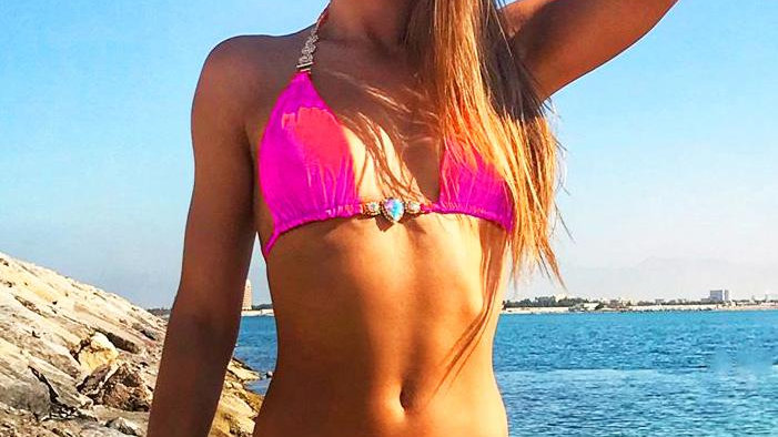Belle Triangle Top & Skimpy Bottom - Pink