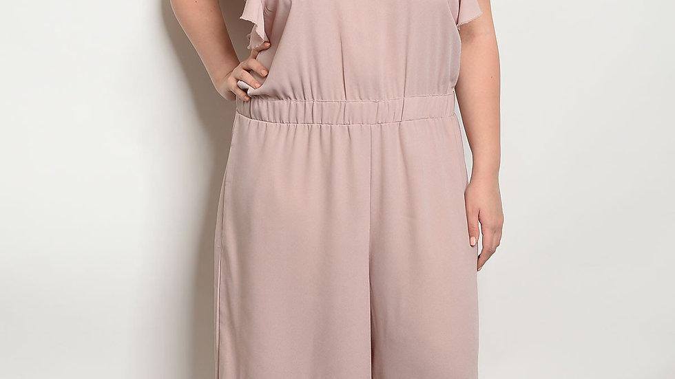 Blush Sleeveless Plus Size Jumpsuit