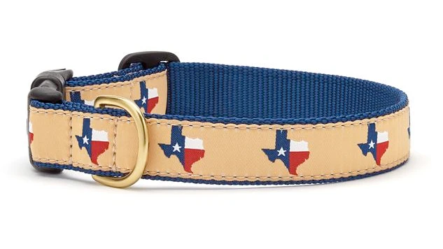 Made in the USA Hand Crafted Texas Dog Collar