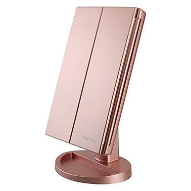 Tri Fold Lighted Vanity Mirror Makeup Mi