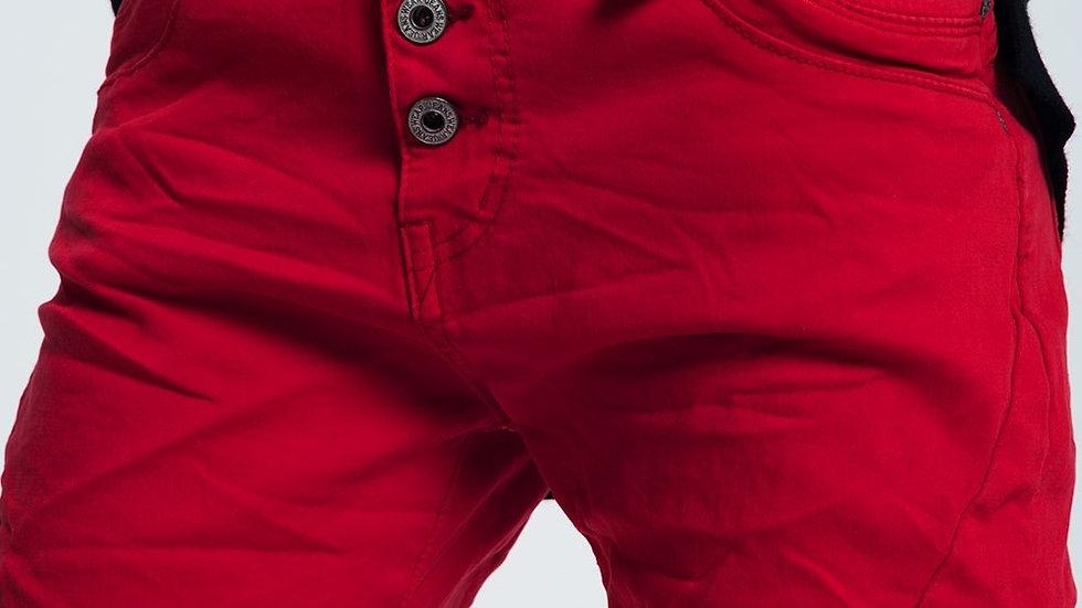 Comfortable Original Boyfriend Jeans in Red