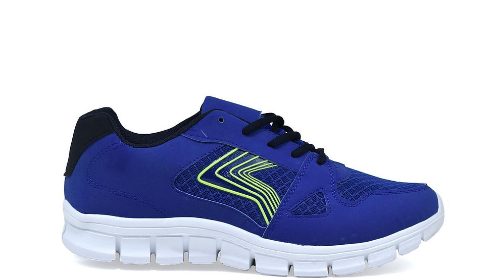 Men's Lightweight Lace Up Trainers Blue