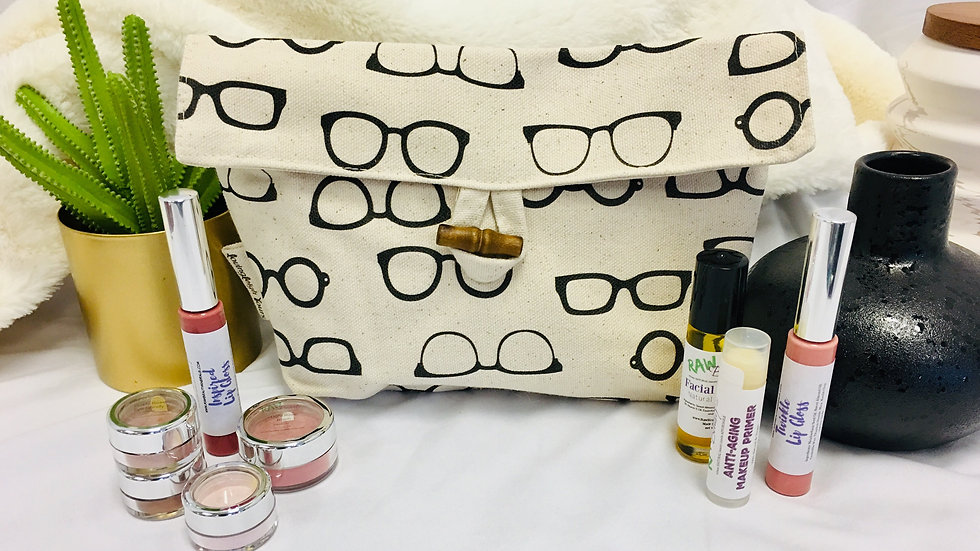 Large Sized Makeup Pouch - Glasses