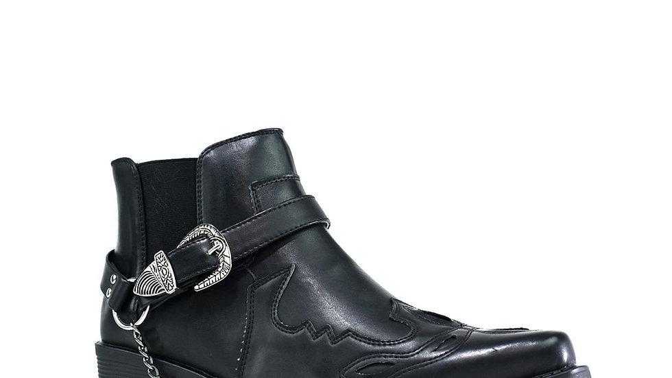 Archie Low Top Cowboy Boot Black