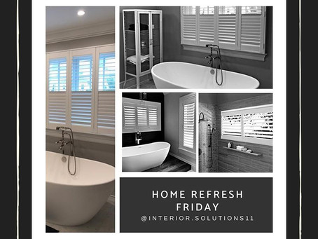 The Perfect Bathroom Window Covering-Shutters!