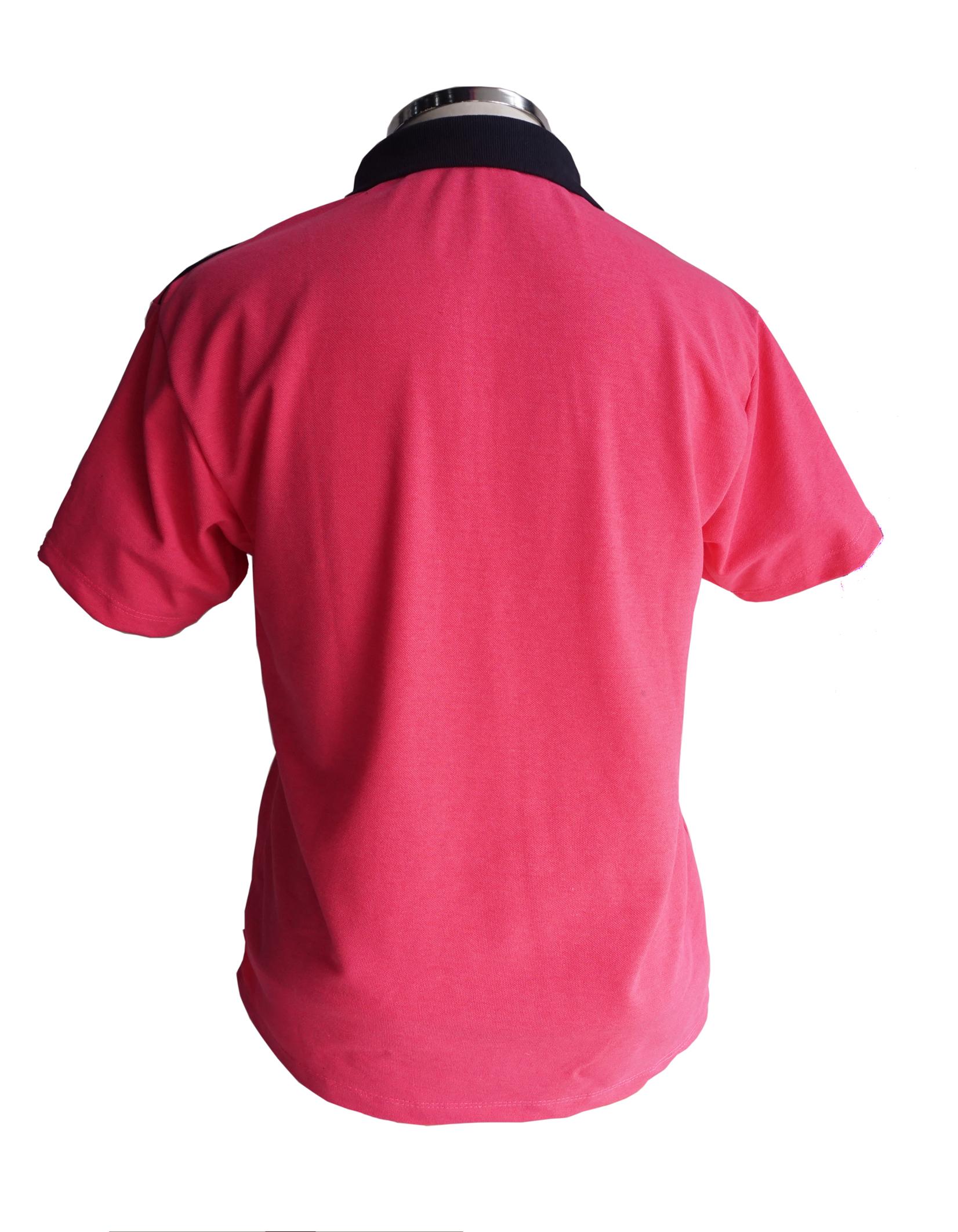 Pink com gola marinho