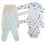 Thumbnail: Kit Bebê Body Manga Longa 6 peças - 3 bodys + 3 calças