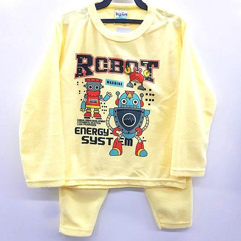 Conjunto Soft Robot Amarelo  - Viston Kids