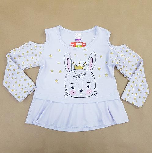 Blusa Manga Longa Coelha - Branco