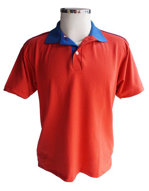 Camisa Polo Vermelha com gola Royal