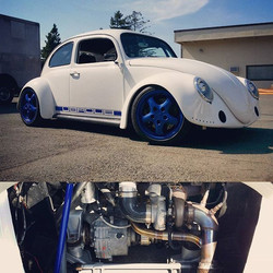 This is a mid engine Audi 1.8t powered 1960 Bug that we have done some fuel, and turbo work on for _