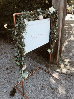 Freelance Sophie - Welkomstbord huwelijk
