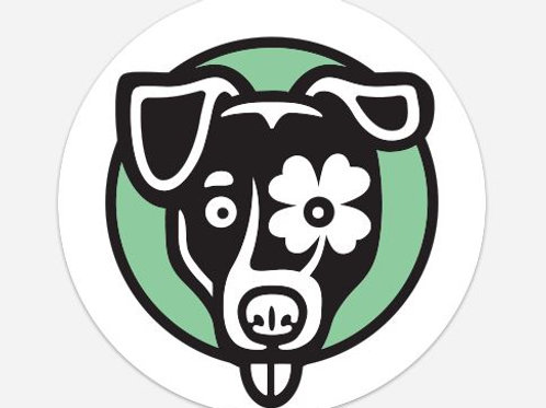 Lucky Jack Dog Sticker