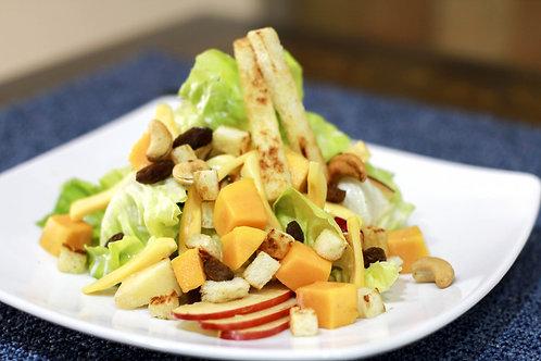 Salat trái cây sốt chanh dây, hạnh nhân rang