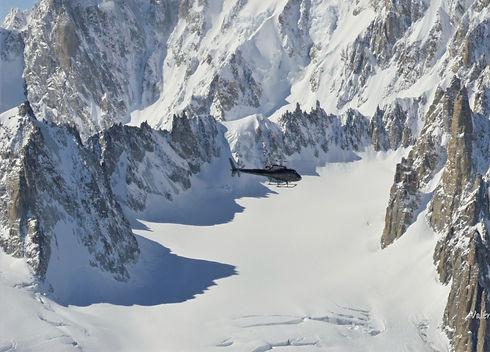baptême en hélicoptère mont-blanc
