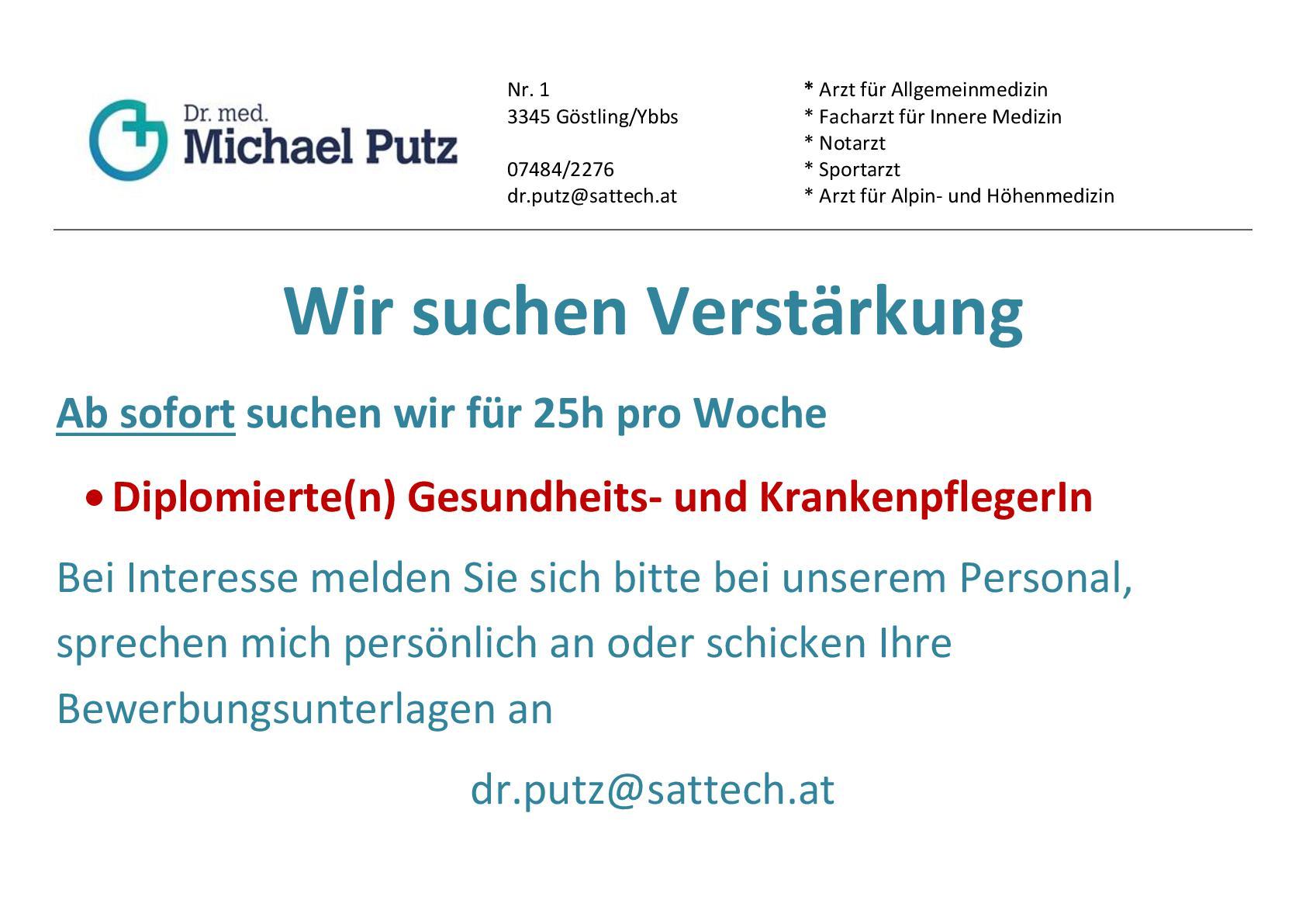 Stellenanzeige Ordination Dr.Putz-001