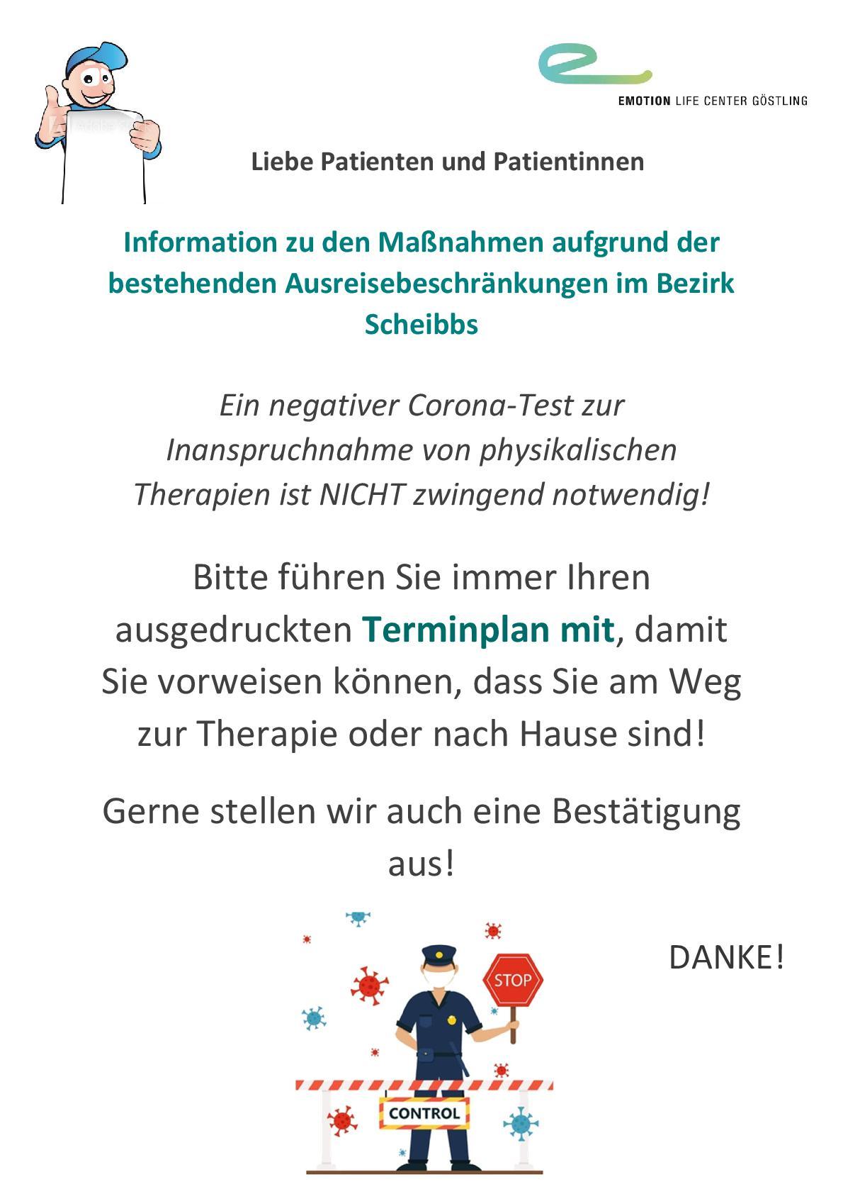 Ausreisekontrolle Bezirk Scheibbs_202104