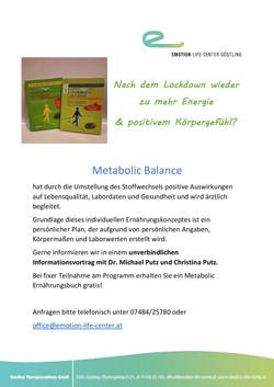 Metabolic Informationsveranstalung Juni